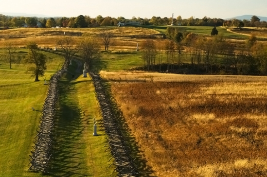 Antietam NBP: Bloody Lane from Observation Tower, Fall 2009.