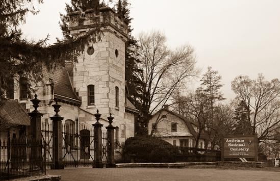 Entrance, Antietam National Cemetery, Sharpsburg, Maryland, Apri