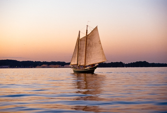 Sailing, Chesapeake Bay, Maryland, May 5, 2000.