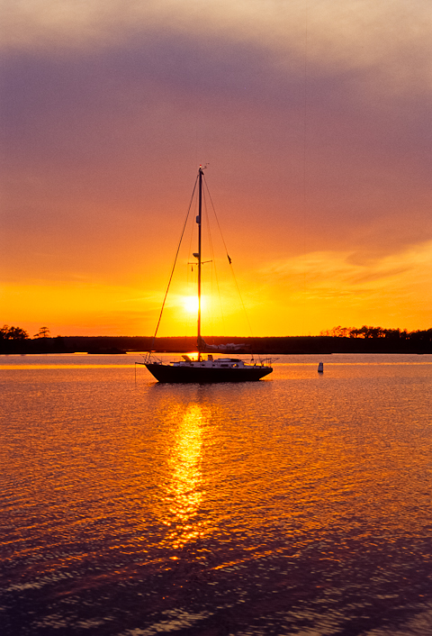 RSVP Sunset, Point Lookout, Maryland, Chesapeake Bay, May 26, 20