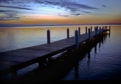 Dock, Magic Hour, Hemingway's Restaurant, Kent Island, Maryland,