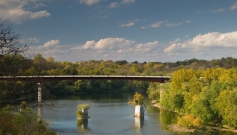 James Rumsey Bridge, Potomac River north of downtown Shepherdstown, West Virginia.
