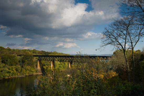 Trestle across the Potomac River  viewed from James Rumsey Monument Park.