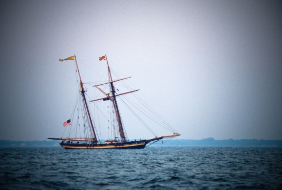 Pride of Baltimore, Chesapeake Bay, Maryland, October 30, 1999
