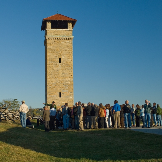 Ranger and Audience, Antietam National Battlefield, Sharpsburg, Maryland, October 19, 2009