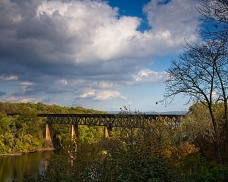 Norfolk Southern Railway Bridge as viewed from James Rumsey Memorial Park, Shepherdstown, West Virginia, October 19, 2010.